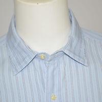Mint BROOKS BROTHERS Slim Fit 100% Cotton Dress Shirt Sz 17 - 34 Blue