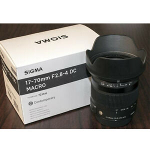 Sigma 17-70mm F2.8-4 DC MACRO OS HSM Lens for Canon EF