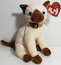 """TY Beanie Babies """"SIAM"""" Siamese Cat - MWMTs! PERFECT GIFT! RETIRED! A MUST HAVE!"""