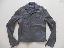Levi's Damen Biker Jeans Jacke, Lederjacke, Gr. L, grau, wie NEU ! Echt-Leder !