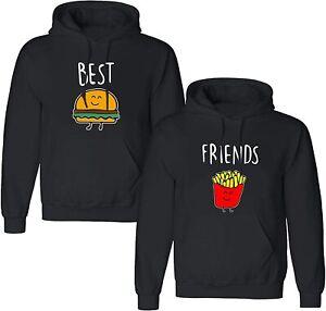 BFF Beste Freunde Hoodie Set Pullover Kapuze Best Friends Sis Burger & Pommes 2
