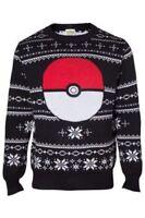 Pokemon Let's Go Knitted Pokeball Christmas Jumper