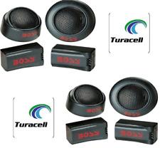 "4 x BOSS TW15B 250W 1"" Micro Dome Car Audio Tweeters + External Crossovers"