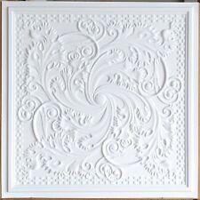 Ceiling tiles Faux tin white matt decor  Enchase bar saloon wall panel PL62