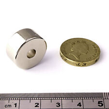 Strong Magnets ( 20mm x 10mm x 5.2mm Hole ) * Pull force 10Kg * Powerful Ring