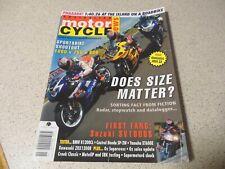 Australian Motorcycle News 2003- BMW R1200CL - Yamaha XT600E - Kawasaki ZRX1200R