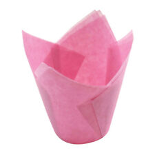 Tulips Cupcake Liners Paper Cake Baking Cup Muffin Cases Wedding Party 50Pcs New