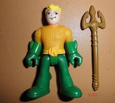 DC IMAGINEXT justice league AQUAMAN figure TOY dcu TRIDENT weapon aqua man