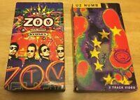 U2 Zoo TV Live From Sydney & U2 NUMB 3-Track Video VHS movies LOT, pre-owned