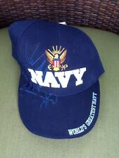 USN Worlds Greatest Navy  Shadow Embroidered Eagle Logo Baseball Cap Hat