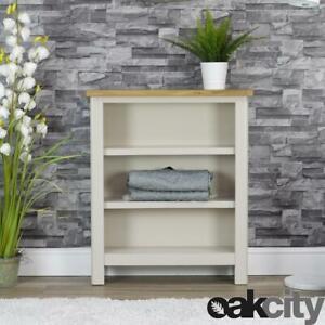 Dorset Grey Oak Bookcase   Small Wide Bookshelf   Truffle Grey