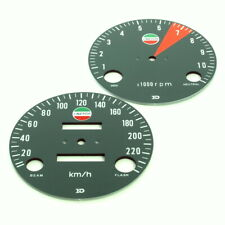 Laverda SF SFC GT 750 Zifferblätter Tachometer DZM KMH Face Plates Speedometer