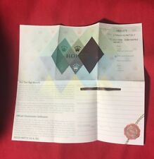 Rolex Certificate Guarantee Warranty For a D serial Datejust 179163