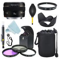 Canon EF 50mm f/1.4 USM Lens + Lens hood + Filter Kit + Accessory Kit