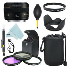 Canon EF 50mm f/1.4 USM lente + Parasol + Kit De Filtro + Kit De Acessórios