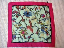 """Gorgeous Exotic Vintage Rosabotanica 100% Silk Made in Italy 24"""" Square"""