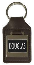 Porte-Clé Cuir Anniversaire Name Option Gravure - Douglas