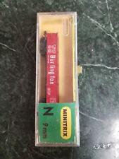 MINITRIX N 9MM 3213 Gondola Burlington Train Car in Original Packaging