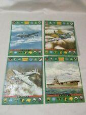4-VNTG WWII FLIGHT SERIES 430 WAR PLANES JIG SAW PUZZLE COMPLETE NEAR MINT&BOX