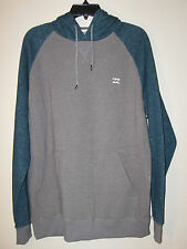 Billabong Long Sleeve Hooded Pullover NWT XL Gray / Teal Cotton/Poly