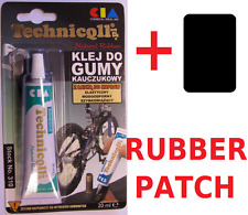 TECHNICQLL GLUE ADHESIVE RUBBER HOSES TUBES HIGHLY FLEXIBLE BIKE TYRE PATCH