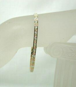 Lovely Vintage Three Colour 9 carat Gold Bracelet
