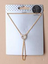 Paquete De 2 X Corazón Cristal Mano Cadenas Por Mayor Plata Oro uno uno