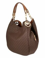 Michael Kors Tasche Handtasche Fulton LG  Chain Shoulder Tote Braun neu