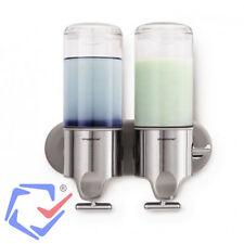 Simplehuman Distributeur double de savon et shampoing Mural Inox électroménager