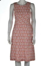 Rena Lange Womens New Pink Dress Sz 6 Textured Below Knee Cotton Sheath