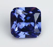 10X10MM 7.26CT AAAAA Blue Zircon Gems Square Faceted Cut VVS Loose Gemstone
