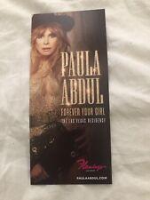 Paula Abdul Las Vegas Residency Souvenir Flyer - Forever Your Girl - Last One!