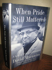 SIGNED 1st Edition WHEN PRIDE STILL MATTERED David Maraniss LOMBARDI First Print