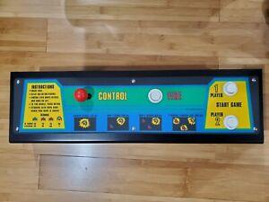 Restored OEM Galaxian Arcade Control Panel in Super Nice Shape.