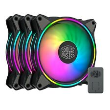 NEW! Cooler Master Masterfan Mf120 Halo Addressable Rgb 3 Fan Pack With Argb Con