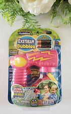 Amazing Bubbles Exstream Bubble Gun Pink Kids Outdoor Toy 2 AABatteries Included