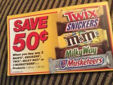 10 Coupon Save $0.50 WYB 2 M&M.SNICKERS.TWIX.MILKY WAY OR 3 MUSKETEERS 5-31-18