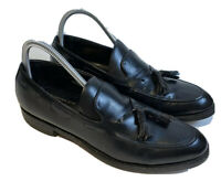 The Florsheim 82179 Men's Shoe Sz 8.5 B Black Leather Tassel Dress Loafers