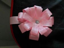 Pink Crystal Magnetic Pram Pushchair Hood Charm Romany Bling Style Rosette