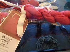 2 West Elm Crinkle plisse Euro shams pink New