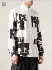 Alexander Mcqueen **RARE** McQ Men's Black Letter Printed Shirt IT 52 Uk XL