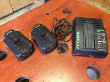 FESTOOL - Lot chargeur TRC3 + 2 batteries BPC15