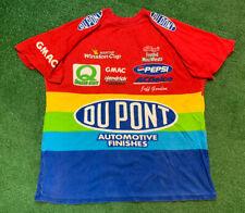 Vintage 90s Jeff Gordon All Over Print Rainbow DuPont T Shirt NASCAR Rare 1997