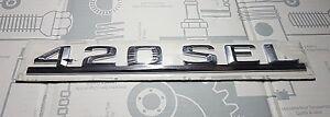 /615/ Mercedes-Benz Typenschild Typenzeichen Schriftzug 420SEL 420 SEL W126