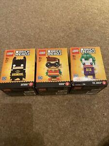 Lego BrickHeadz DC Series - Batman, Robin, & The Joker - Brand New And Boxed