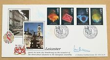 ANNIVERSARIES 1989 BENHAM FDC LEICESTER HS SIGNED BY POLITICIAN SIR LEON BRITTAN