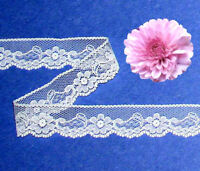 "White Lace Trim Vintage 8 - 16 Yd x 7/8"" Floral N28AV Buy any 3 Trims Get 1-FREE"