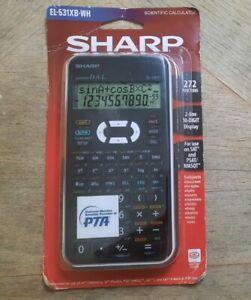 Sharp EL531XBWH Scientific Calculator with 2 Line Digits Display 272 Functions