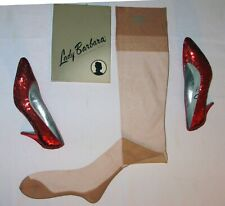 3 Pr~Lady Barbara~Ff *Rare 6615 Dark Seamed* Vintage Nylon Stockings 10.5/34 Nib