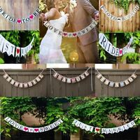 Wedding Engagement Photo Booth Party Bunting Banner Garland Props Decor Sign